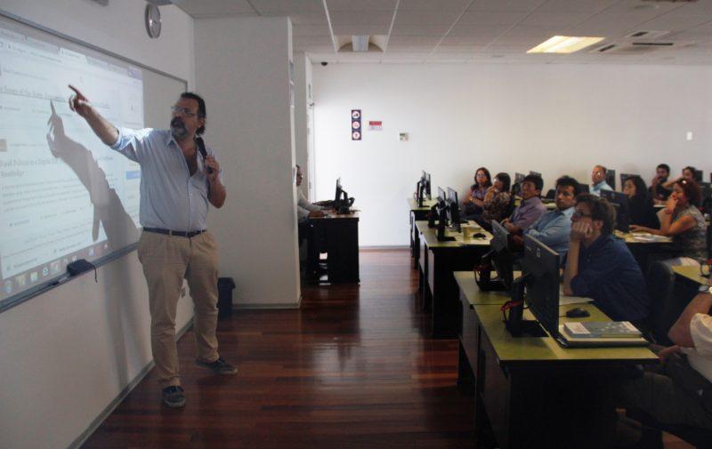 Juan Fernando Bossio, especialista en Gestión de la Información de la Dirección de Gestión de la Investigación (DGI)