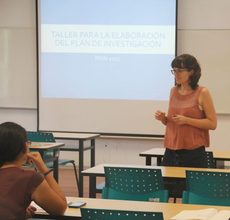 María Fernández Flecha, docente del departamento de Humanidades que estuvo a cargo del grupo de letras.