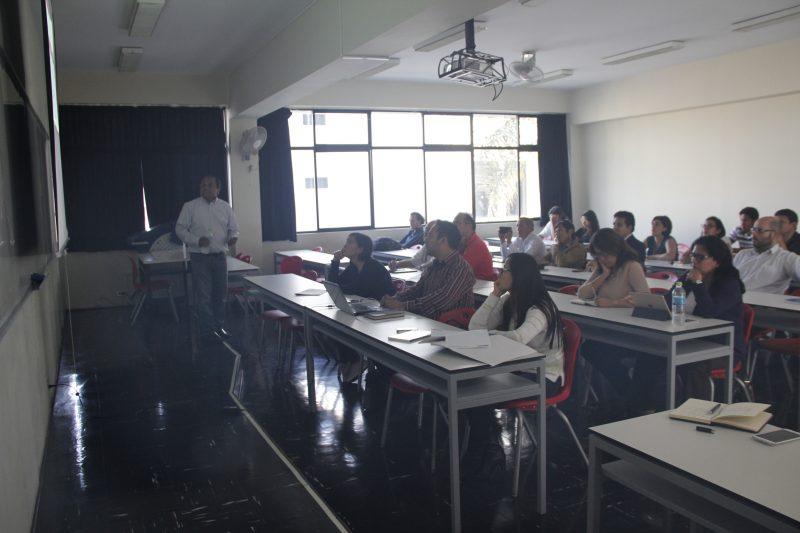 Alrededor de 30 profesores e investigadores asistieron a la charla informativa.