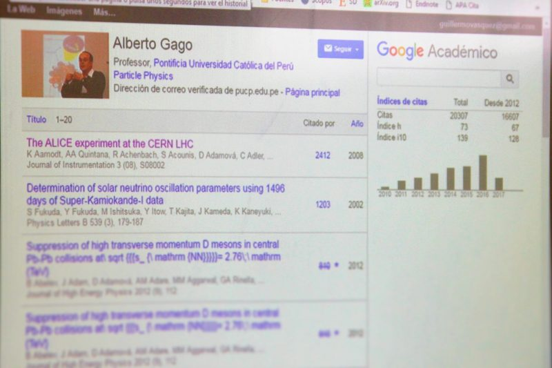 Alberto Gago es el investigador de la PUCP más citado según Google Scholar.