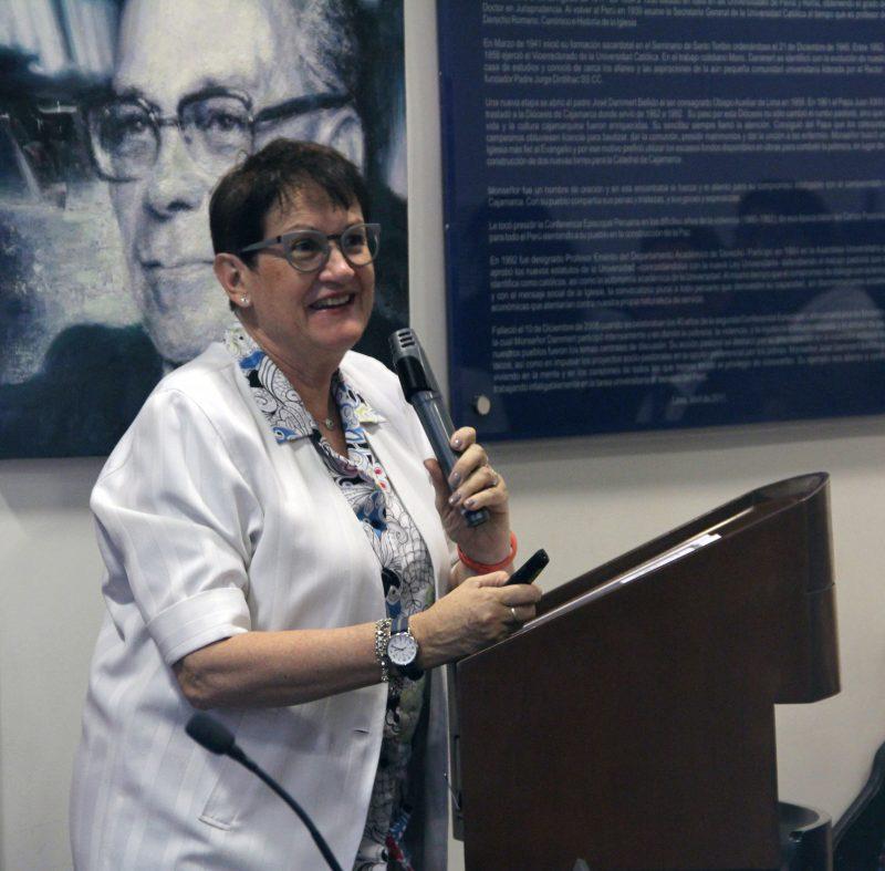 Nicole Bernex, coordinadora general del proyecto ICA y directora del Centro de Investigación en Geografía Aplicada.